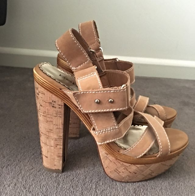 Bebe Tan Shoes