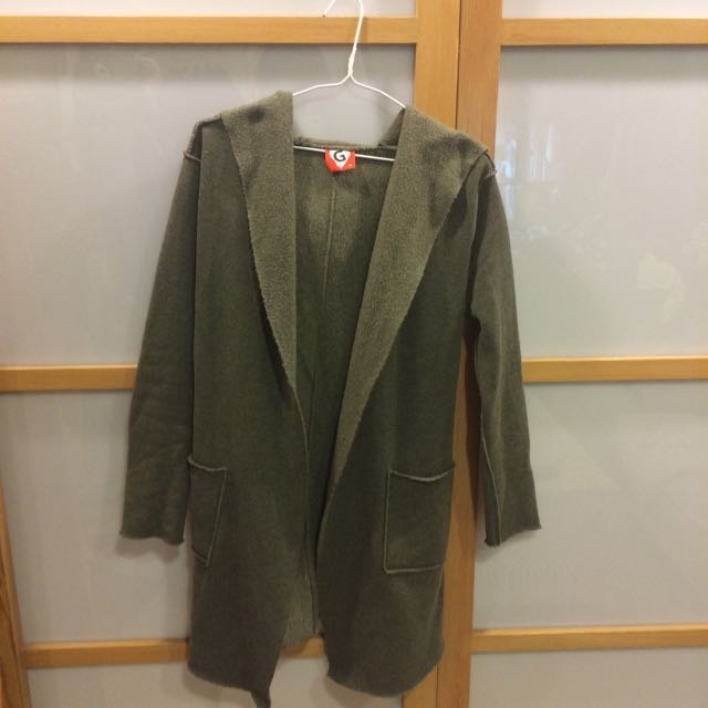 ✨G Love 灰色長版罩衫✨9成新