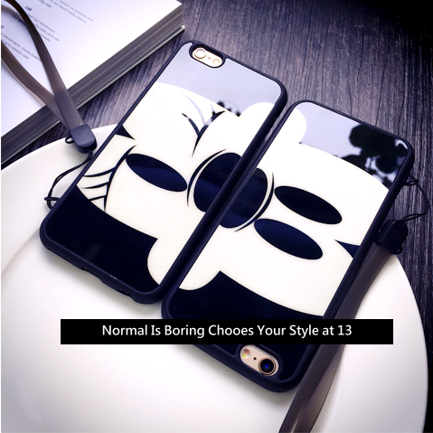 【米老鼠情侶款】iphone6手機殼‧保護套‧附掛繩‧‧‧{適用蘋果iPhone 6 4.7吋\6Plus‧5.5吋#10404M642