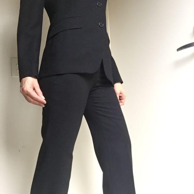 Jigsaw Black Business Suit- 100%Wool
