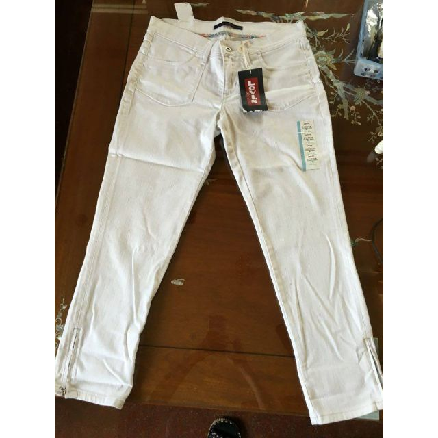 levis全新白色低腰褲(含運)