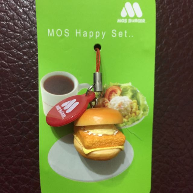 Mos Burger摩斯漢堡經典吊飾 摩斯鱈魚堡