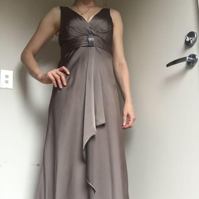 Monti Brown Evening Dress
