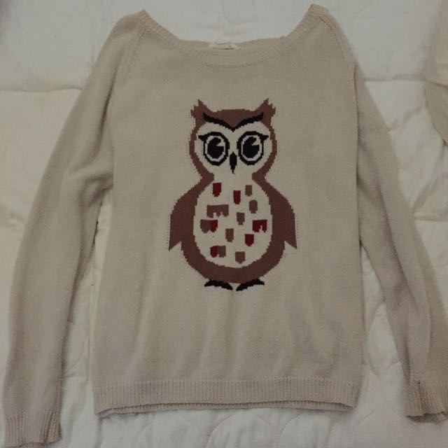 Owl Cardigan Size 10-12