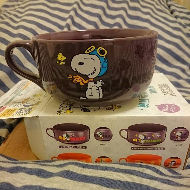 Snoopy心情加熱變色杯碗--夢想款