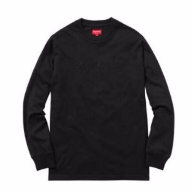 Supreme SS16 LS Embroidered Tee Sz LARGE