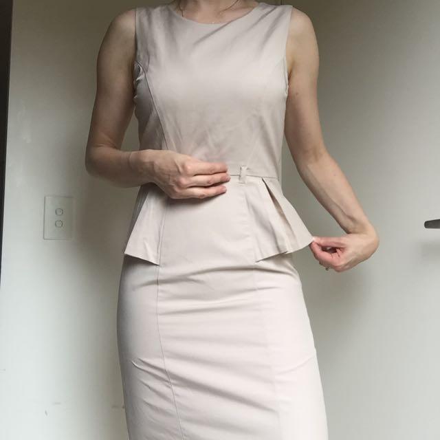 Target Light Brown Peplum Dress