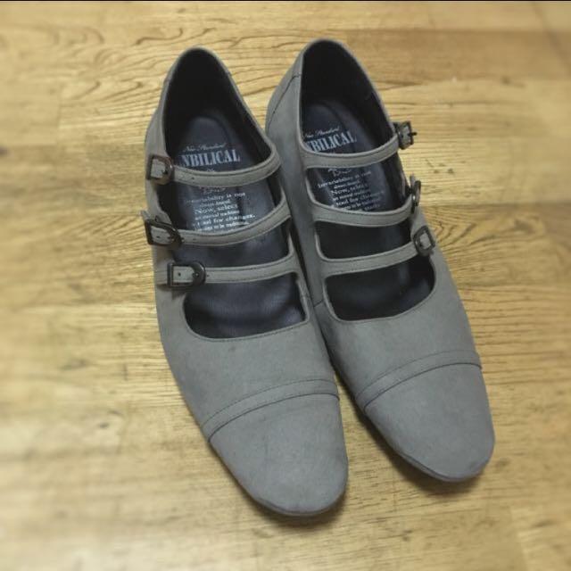 降價✨Unbilical絕版繫帶厚底鞋