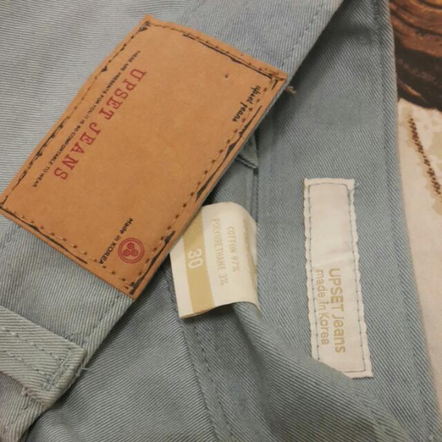UPSET正韓水藍色褲