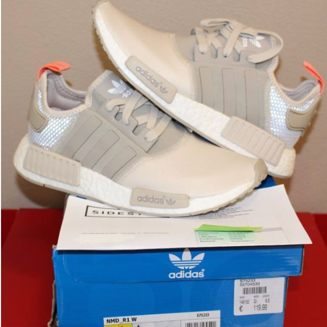 Women's Adidas NMD_R1 Tan Clear Brown S75233 Sz. 8