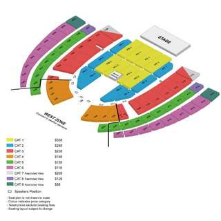 Jay Chou Concert Cat 3 *Nearest To Stage*