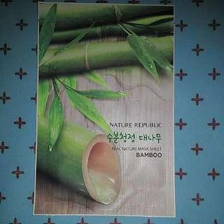 Nature Republic Bamboo Real Nature Mask Sheet