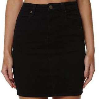 Black Wrangler Denim Skirt Sz 8