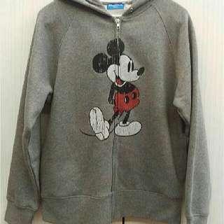 東京迪士尼樂園-米奇耳朵連帽拉鍊外套(M號)全新品
