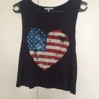 US Heart singlet