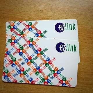 (只剩一張)2張新加坡捷運地鐵卡ezlink