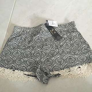 ICE Printed Shorts With Black/White Tribal