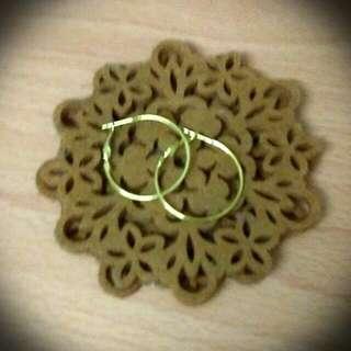 Medium Gold Hoop Earrings New