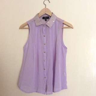 Lavender Chiffon Shirt