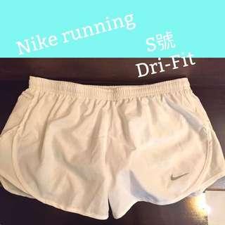 Nike Running 跑步 慢跑白色飄褲短褲s號 Dri-Fit