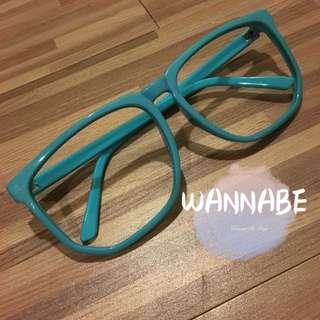 🚚 藍框造型眼鏡👓