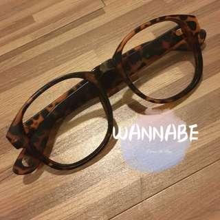 🚚 豹紋霧面造型眼鏡👓