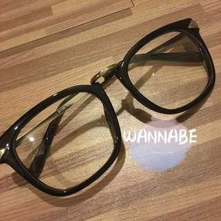 🚚 韓國🇰🇷滾金造型眼鏡👓