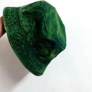復古綠漁夫帽