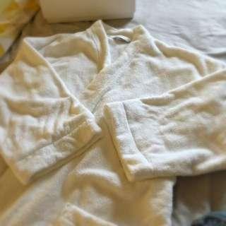 Sheridan Classic White Bathrobe L-XL