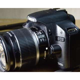 Canon 500D with 18~55 lens