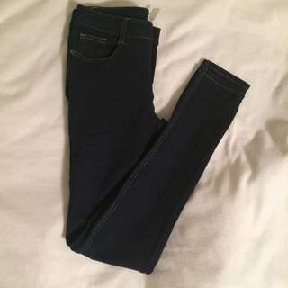 Dark Blue Stretch Jeggings