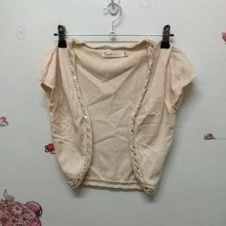 針織短版小外套_米S