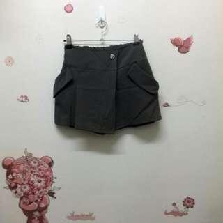 不規則褲裙_鐵灰S