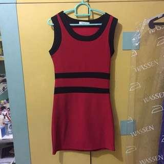 Preloved - Red/Black Dress