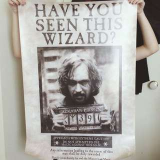 Harry Potter Universe Sirius Black Wanted Poster