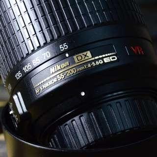 NIKKOR 55-200MM F4/-5.6G ED VR
