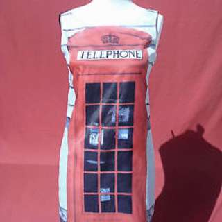 Moschino Inspired Phonebooth Shift Dress