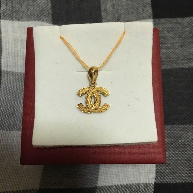 916 gold custom made chanel pendant everything else on carousell photo photo photo photo aloadofball Choice Image