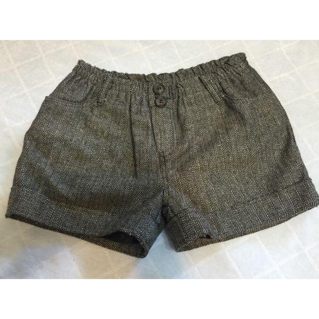 冬季千鳥格短褲
