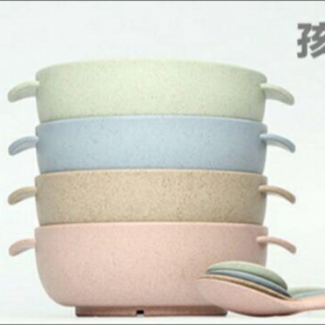 現貨供應-小麥系列-兒童碗勺組