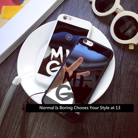【李晨同款 MLGB情侶麻吉潮牌款】iphone6手機殼‧保護套‧附掛繩‧質感鏡面‧‧{適用蘋果iPhone 6 4.7吋\6Plus‧5.5吋#10404M9455