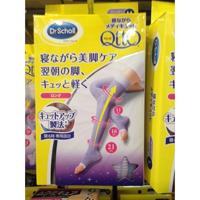 日本連線代購 Qtto 睡眠美腿襪 M