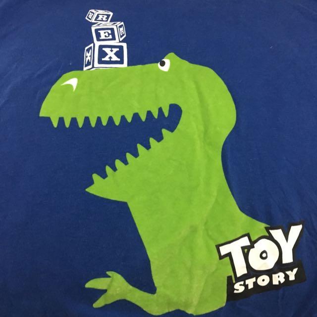 玩具總動員 Rex抱抱龍 短t