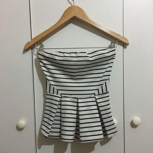 Ally Fashion Bandeau Peplum Top