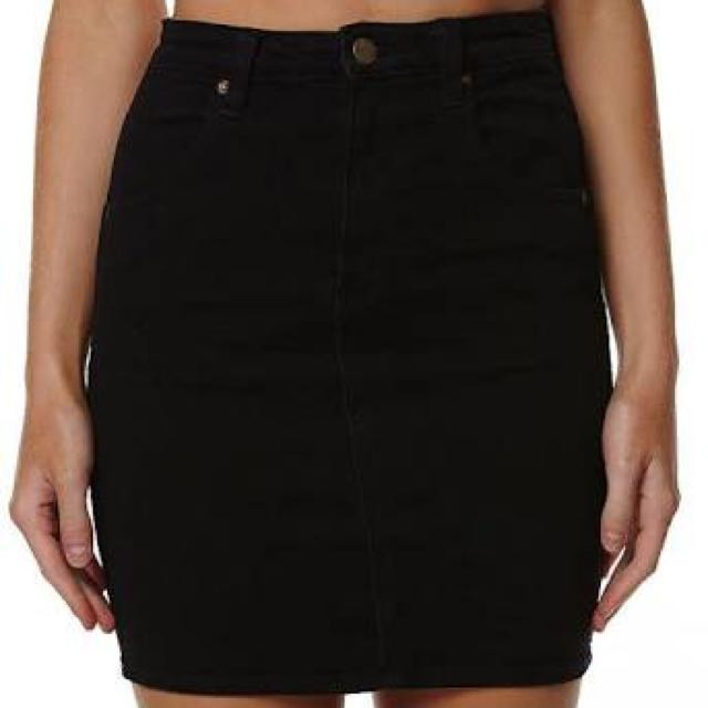 Black Wrangler Denim Skirt Sz 8