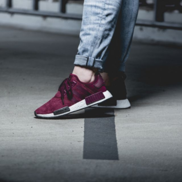 bn adidas nmd r1 uk4 5 w maroon sports on carousell. Black Bedroom Furniture Sets. Home Design Ideas