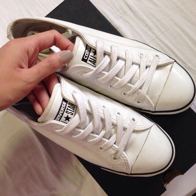 Converse All Star Dainty Leather Shoes (White)