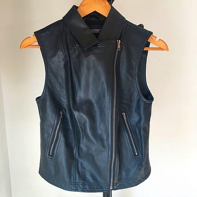Decjuba Faux Leather Vest - Size Small