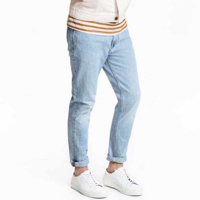 H&m淺色修身牛仔褲