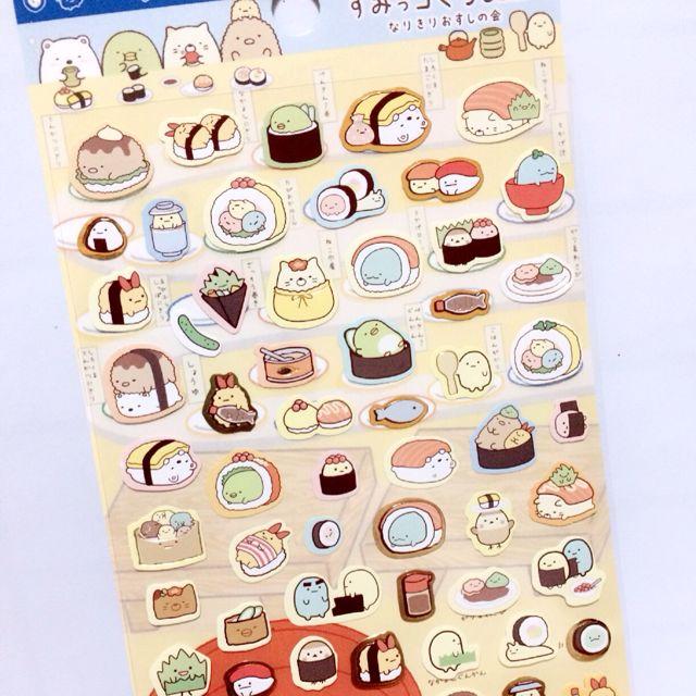 [INSTOCK] D bronzed Sumikko Gurashi Sticker - Blue Sushi